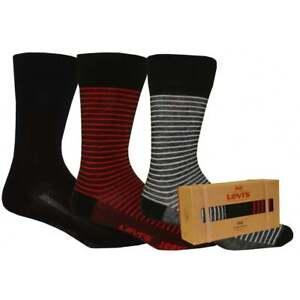Levi's Men's 168sf Regular Cut Giftbox  Calf Socks pack of 3 Navy
