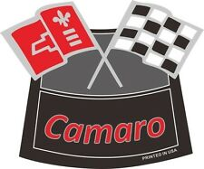 CAMARO FLAGS CHROME AIR CLEANER DECAL Chevy Chevrolet Air Cleaner NEW RED