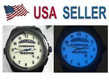 Watch men's  Personalized BLUE LUME 49mm Sport Case Silicon band LOGO  Design