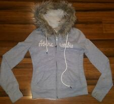 Hollister by Abercrombie & Fitch Women's Faux Fur Hoodie Jacket Grey Size xsmall