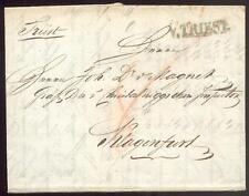 ÖSTERREICH 1824 VORPHILABRIEF von V.TRIEST nach KLAGENFURT(D0983