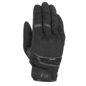 Oxford Brisbane Air Short Motorcycle Motorbike Textile Gloves - Stealth Black