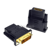 DVI Male to HDMI Female adapter Gold-Plated NEW M F Converter For HDTV LCD D