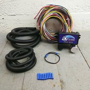 1950 - 1988 Jaguar Ultra Pro Wire Harness System 12 Fuse w/fuse long replace