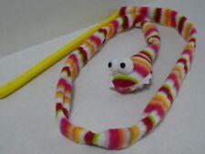 Cat Kitten Multi Coloured Stripey Snake Teaser Wand Activity Toy