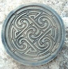 "Celtic knot plaque plastic mold for plaster concrete  10"" x 3/4"" thick"