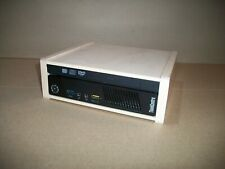 Lenovo Tiny M93p PC With Pickled Oak Custom Wood Enclosure Includes DVD Drive