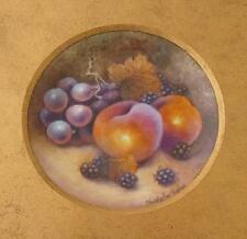 Fruit Painted Porcelain Picture By Christopher Hughes (Royal Worcester Artist)