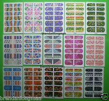 Wholesale 30 Sheets Glitter Nail Polish Art Stickers KC Flower Star Leopard
