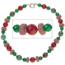 Modeschmuck-Halsketten & -Anhänger aus Edelstahl mit Achat