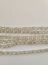 Jewellery Making Silver Plated 3.2 x 0.5mm Rollo Chain - 2 metres