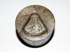alter PRÄGESTEMPEL - Christliches Motiv - Heilige Maria - für Heiligen Anhänger