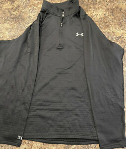 UNDER ARMOUR Cold Gear Fitted Mens 1/4 Zip Pullover Black Size 3XL