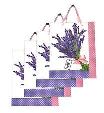 Lagiwa® Lot de 4 Sacs Papier Cadeaux LAVANDE ROSE MM 32X26X10cm