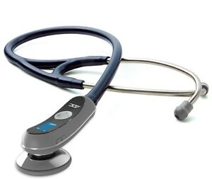 NEW ADC Adscope Model 658 Electronic Digital Amplified Stethoscope NAVY