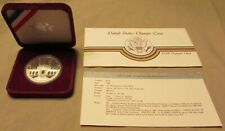 1984 S LOS ANGELES OLYMPIC GAMES COMMEMORATIVE SILVER DOLLAR, CASE, & SPECS