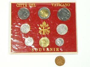 1975 - 1985 Citta Del Vaticano Vatican City Souvenir 8 Coin Collection Mounted