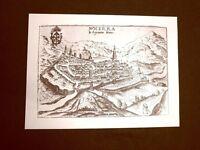 Antica veduta della città di Nocera Incisione del 1616 Ristampa
