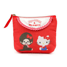 NWT Sanrio Hello Kitty x Monchhichi Friends Tissue Pouch Cosmetic Bag Case RARE