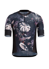 BRAND NEW Sugoi RS Pro Cycling Bike Jersey Men's Large Navy Monstera Floral