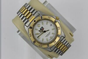 Tag Heuer 2000 Professional WE1122.BB0304 Watch Mens Gold WK1120 Mint Dial White