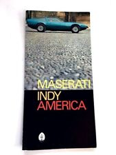 1972 Maserati Indy America Original Car Sales Brochure Catalog Folder