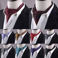 Men Necktie Ascot Tie Cravat Scarfs Formal Party Western Paisley Tie 13 Styles