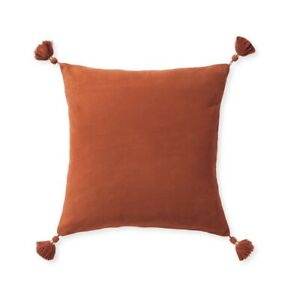 """New! Serena and Lily - Eva Suede Pillow Cover - 20""""SQ - Terracotta - Retail $228"""