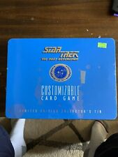 1995 Star Trek Next Generation Card Game Limited Edition Extra Cards Blue Tin