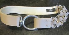 Suzi Roher Taupe Leather Wide Leather Stretch Small Plus Stunning Belt Ladies