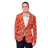 Denver Broncos NFL FoCo Men's Repeat Logo Ugly Business Jacket Size 44-MED