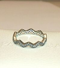 PANDORA SHIMMERING ZIGZAG RING , 197751CZ, S925 ALE STERLING SILVER,+ FREE POUCH