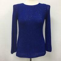 Zaraknit Zara Knit Womens Sweater Medium Blue
