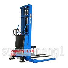 Eoslift S15j Semi Electric Straddle Pallet Stacker Lift 3300lb 1600w Lift Motor