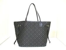 Auth LOUIS VUITTON Monogram Idylle Neverfull MM M40513 Fusain Tote Bag SA1133