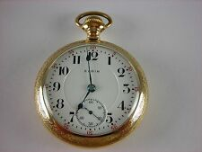 Antique original 18s Elgin Veritas 21j Rail Road pocket watch. 1912. Gold filled