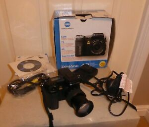 BOXED MINOLTA DIMAGE A2 , NOT WORKING , For SPARES or REPAIRS ONLY