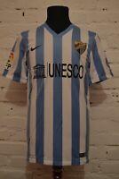 MALAGA SPAIN HOME FOOTBALL SHIRT 2014/2015 SOOCER JERSEY CAMISETA MENS S NIKE