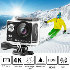 Waterproof 4K Ultra HD 1080P DT7000 Wifi Sport Action Camera Cam+Remote Control