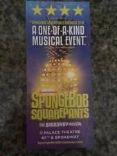 Spongebob  Squarepants ad/flyer Broadway NYC  musical 1/2018