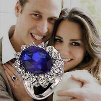 Women Love Blue Sapphire Wedding Engagement Diana William Kate Princess Ring