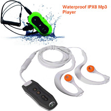 Sports 4GB Clip Waterproof IPX8 Mp3 Player FM Swimming Diving + Earphone Schwarz