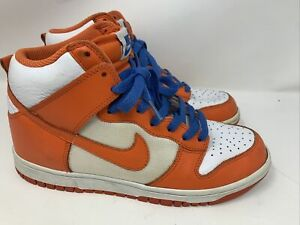 NIKE DUNK HIGH ORANGE WHITE BLUE BLAZE SYRACUSE 2009 RARE 317982-181 Size 7