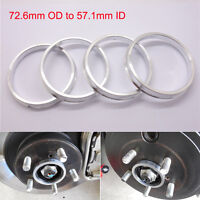 Set 4x Spigot Rings 72,5-57,1 Car Alloy Wheel Hub centric spacers 72.5 to 57.1mm