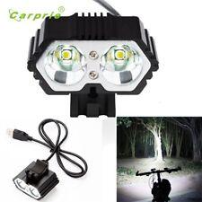 6000lm 2 X Cree Xm-l T6 Led Usb Waterproof Lamp Bike Bicycle Headlight Lanterna