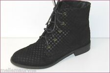 SHELLYS LONDON Bottines Cuir Motifs Quadrillés T UK 8 / US 10 / 40 EUR TTBE