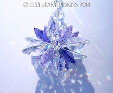 m/w Swarovski Clear, Violet and Purple SUPER STAR Suncatcher Lilli Heart Designs