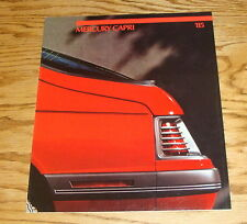 Original 1985 Mercury Capri Sales Brochure 85