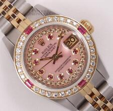 Rolex Lady Datejust 2 Tone-Pink MOP Ruby String Diamond Dial-Ruby Diamond Bezel