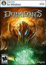 Dungeons PC DVD evil Dungeon Lord role, set traps monster treasure strategy game